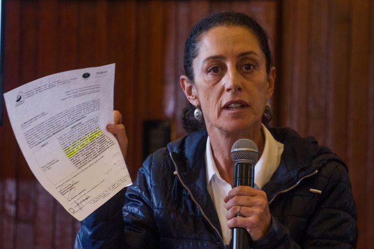 denuncia, Caso Rébsamen, sismo: Presenta Sheinbaum denuncia contra exfuncionarios y dueña del Rébsamen