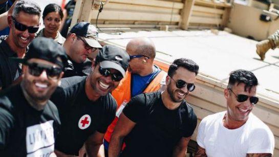 Ricky Martin, Chayanne, Luis Fonsi y más artistas llegan a ayudar a Puerto Rico