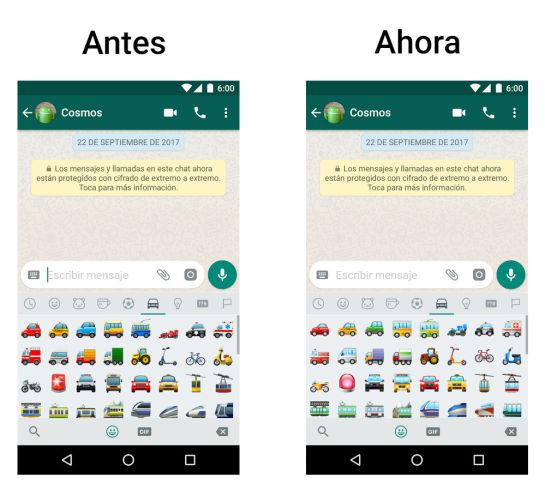WhatsApp rediseña sus emojis para Android