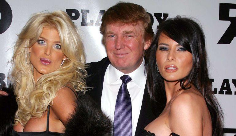 Circulan en la red fotos de supuesto shooting de Melania Trump en Playboy