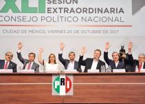 Aprueba PRI que convención de delegados elija a su candidato presidencial