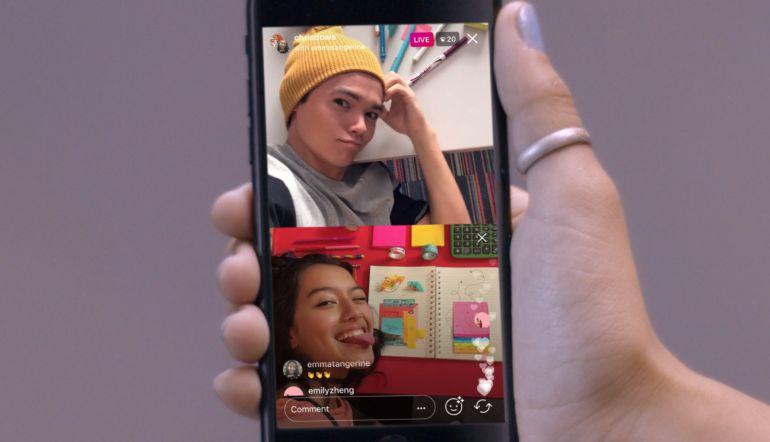 Instagram permitirá hacer transmisiones en vivo con dos usuarios a la vez