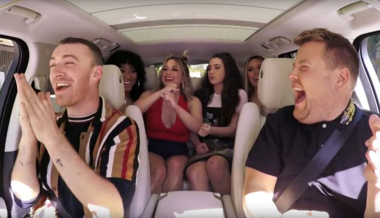 Sam Smith: Fifth Harmony sorprende a Sam Smith durante Carpool Karaoke
