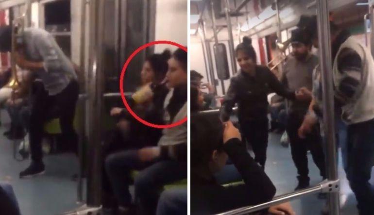 Usuarios hacen fiesta dentro del Metro