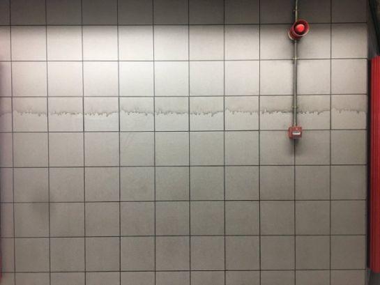 """""""Sucia"""" ilusión óptica sorprende a usuarios del metro"""