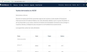 Aeropuerto Internacional de la Ciudad de México: Cancela y retrasan más de 30 vuelos en el AICM