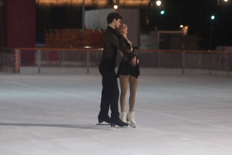 patinaje artístico: El patinaje artístico conquistó la pista de hielo del Zócalo