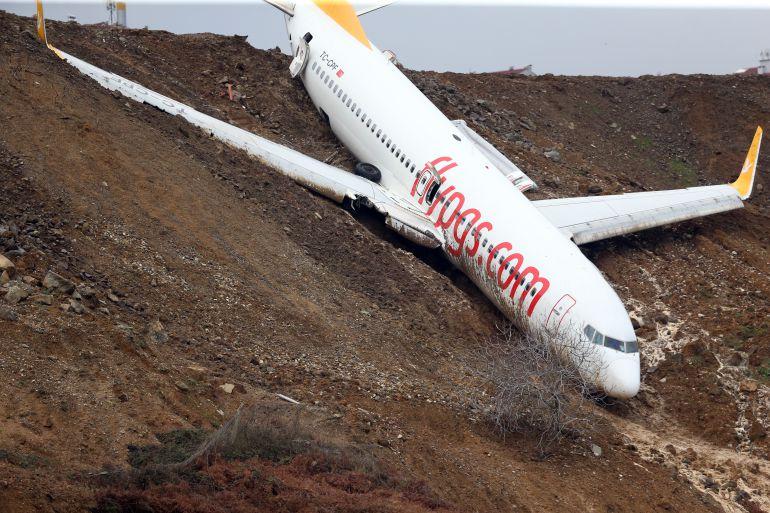Turquia, avión: Video del momento en que un avión se sale de la pista en Turquia
