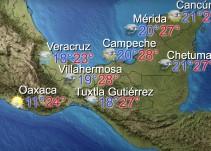 Hoy se esperan lluvias en México