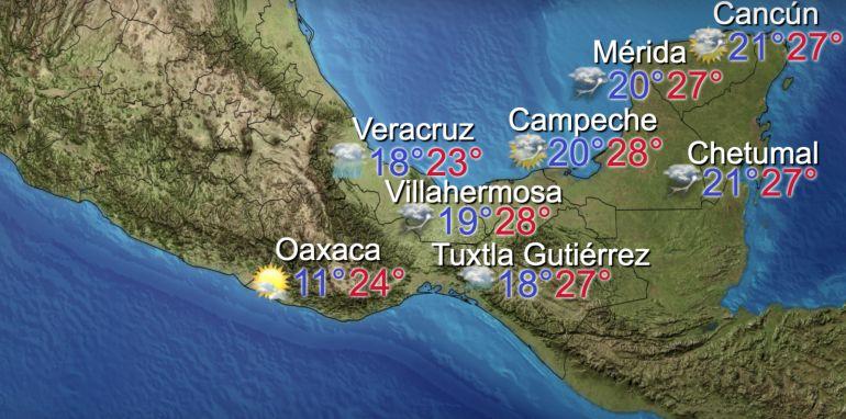 Clima hoy: Hoy se esperan lluvias en México