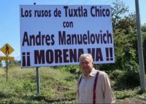 """AMLO agradece el recibimiento de los """"rusos de Tuxtla Chico"""""""