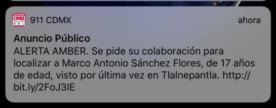Marco Antonio Sánchez: Ubican a Marco Antonio en Tlalnepantla