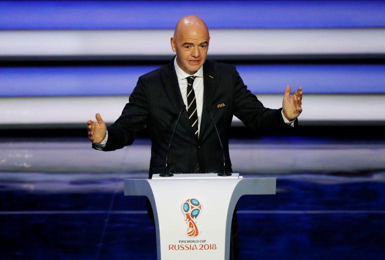 El presidente de la FIFA, Gianni Infantino, elogió los preparativos de la Copa del Mundo Rusia 2018
