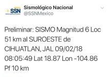 Sismo en Jalisco