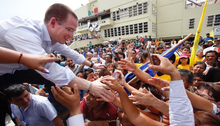 Anaya, precampaña, presidente: Cierra Anaya precampaña en Veracruz