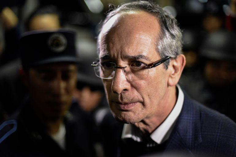 Expresidente, Guatemala: Detienen a expresidente de Guatemala
