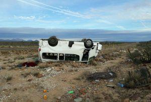 Se accidenta caravana de Marichuy