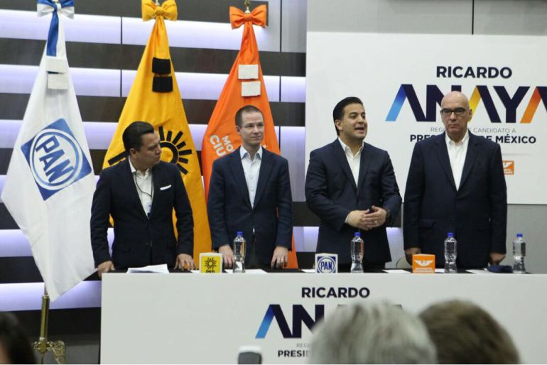 Ricardo Anaya, candidato: Ricardo Anaya se registra como candidato presidencial
