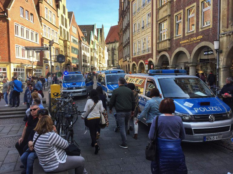 Varios muertos en Münster, Alemania, tras atropello multitudinario: Varios muertos en Münster, Alemania, tras atropello multitudinario