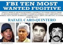 Incluye FBI a Caro Quintero en los 10 más buscados