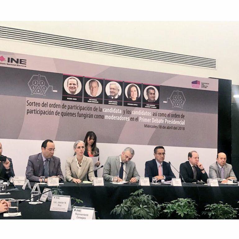 debate presidencial, INE: El Bronco abre debate presidencial y cierra Meade