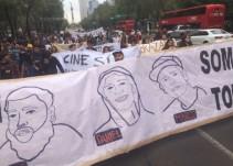 Protestan estudiantes por cineastas asesinados