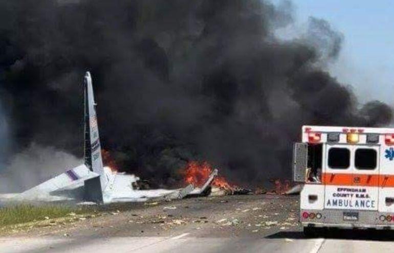 Se estrella avión militar en EEUU