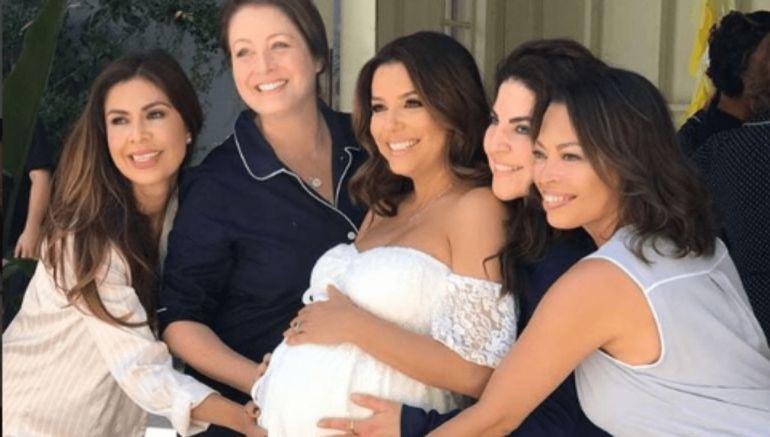 Eva Longoria festejó el Baby Shower de su primer hijo