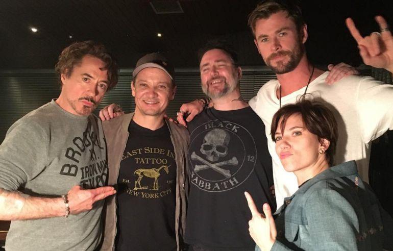 """'Los Avengers' celebran el éxito de """"Infinty War"""" con un tatuaje: 'Los Avengers' celebran el éxito de """"Infinty War"""" con un tatuaje"""