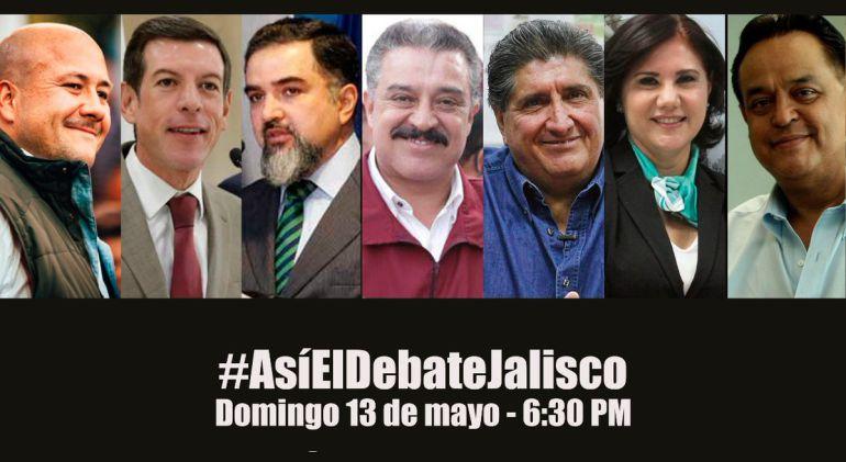 Sigue el debate de candidatos al gobierno de Jalisco por W Radio