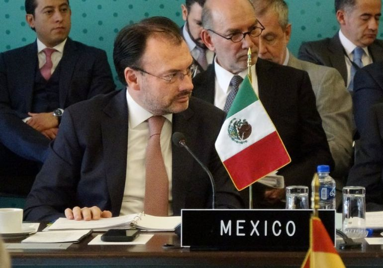 "México presenta queja ante EU, inaceptable llamar ""animales"" a migrantes: Videgaray"