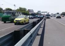 Se registra carambola en la autopista México-Puebla