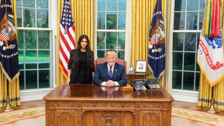 Donald Trump se reúne con Kim Kardashian en la Casa Blanca