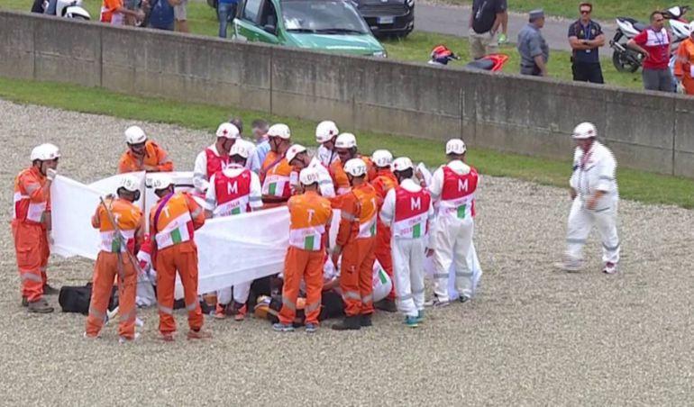 Escalofriante accidente de Michelle Pirro en Moto GP: Escalofriante accidente de Michelle Pirro en Moto GP