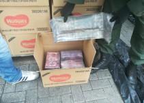 Descubren 122 kilos de droga ocultas en pañales