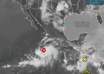 """Llega """"Aletta"""", primera tormenta tropical en el Océano Pacífico"""
