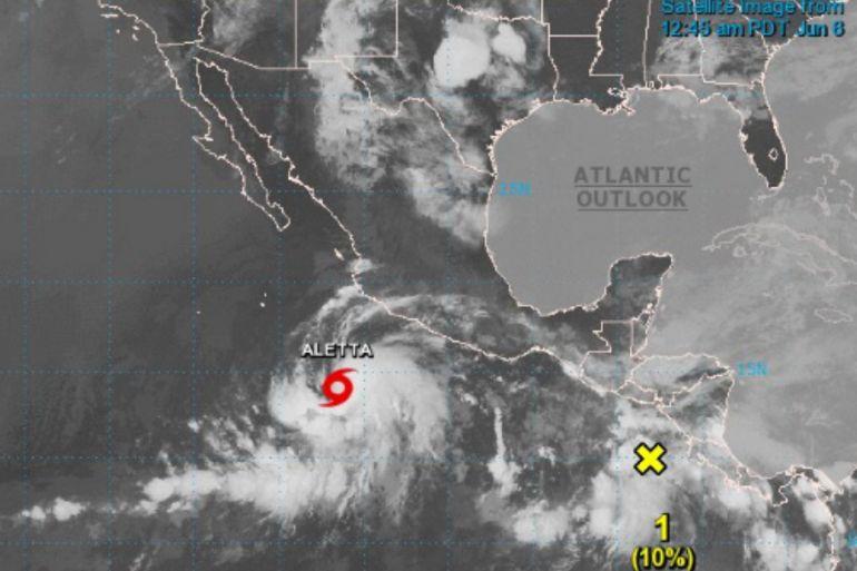 """Llega Aletta, primera tormenta tropical del Océano Pacífico: Llega """"Aletta"""", primera tormenta tropical en el Océano Pacífico"""