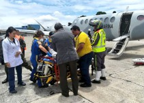 Trasladan a México a heridos por Volcán de Fuego