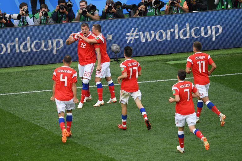 Rusia 5, Arabia Saudita 0, Rusia 2018, inauguración: Rusia goleó a Arabia en el debut del Mundial 2018