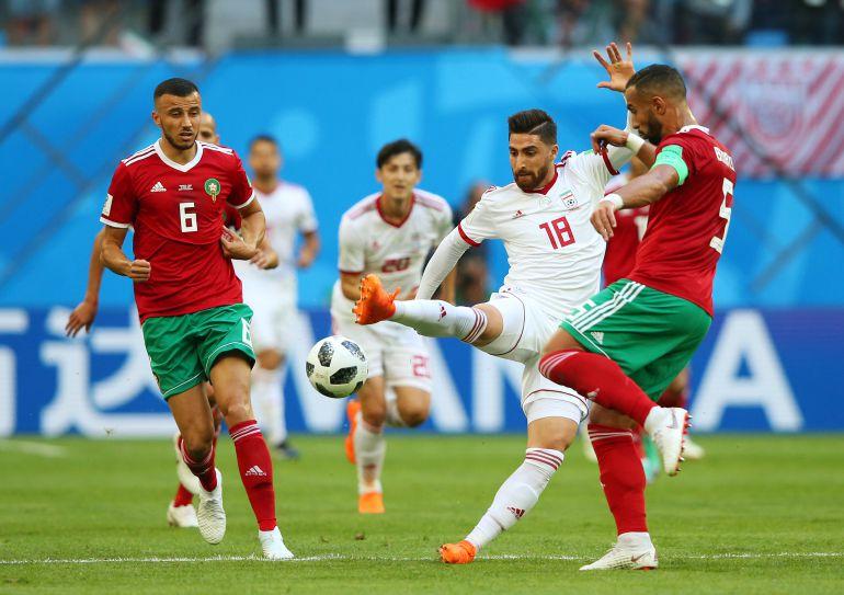En vivo Marruevos vs Irán, Mundial de Fútbol, Rusia 2018: Irán sufre ante Marruecos en San Petersbusgo