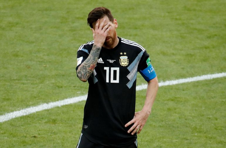 Lionel Messi, Argentina vs Islandia, Copa Mundial Fútbol Rusia 2018: Messi niega la victoria a Argentina