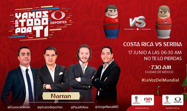Costa Rica vs Serbia, En vivo online, Copa Mundial Fútbol Rusia 2018: Ticos y Serbios se estrenan en el Mundial Rusia 2018