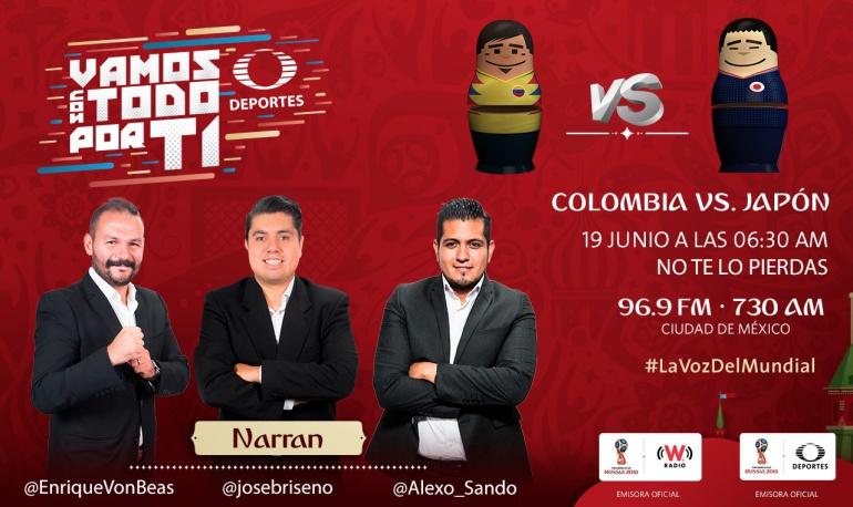 Colombia vs Japón, en vivo online, Copa Mundial Fútbol: En vivo: Colombia vs Japón