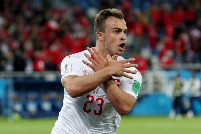 Shaquiri, Serbia vs Suiza, Copa Mundial Rusia 2018: Suiza le roba el triunfo a Serbia