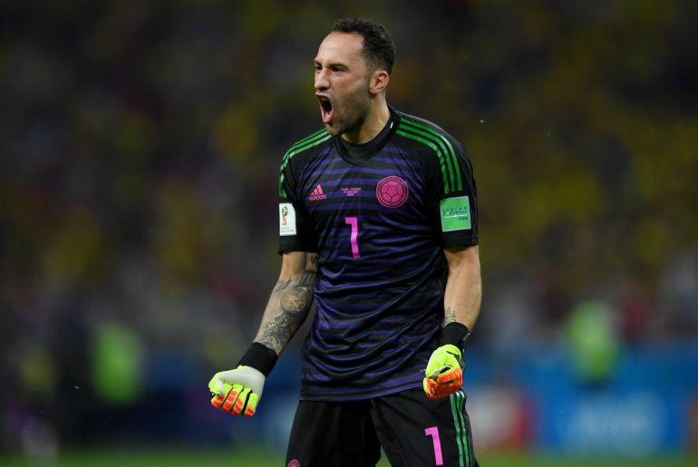 Davis Ospina feteja los goles de Colombia