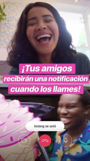 Videollamada instagram