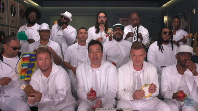 Backstreet Boys, BSB, Jimmy Fallon, I want it that way, canciones en inglés, década de los 90s: Backstreet Boys sorprende a sus fans con Jimmy Fallon