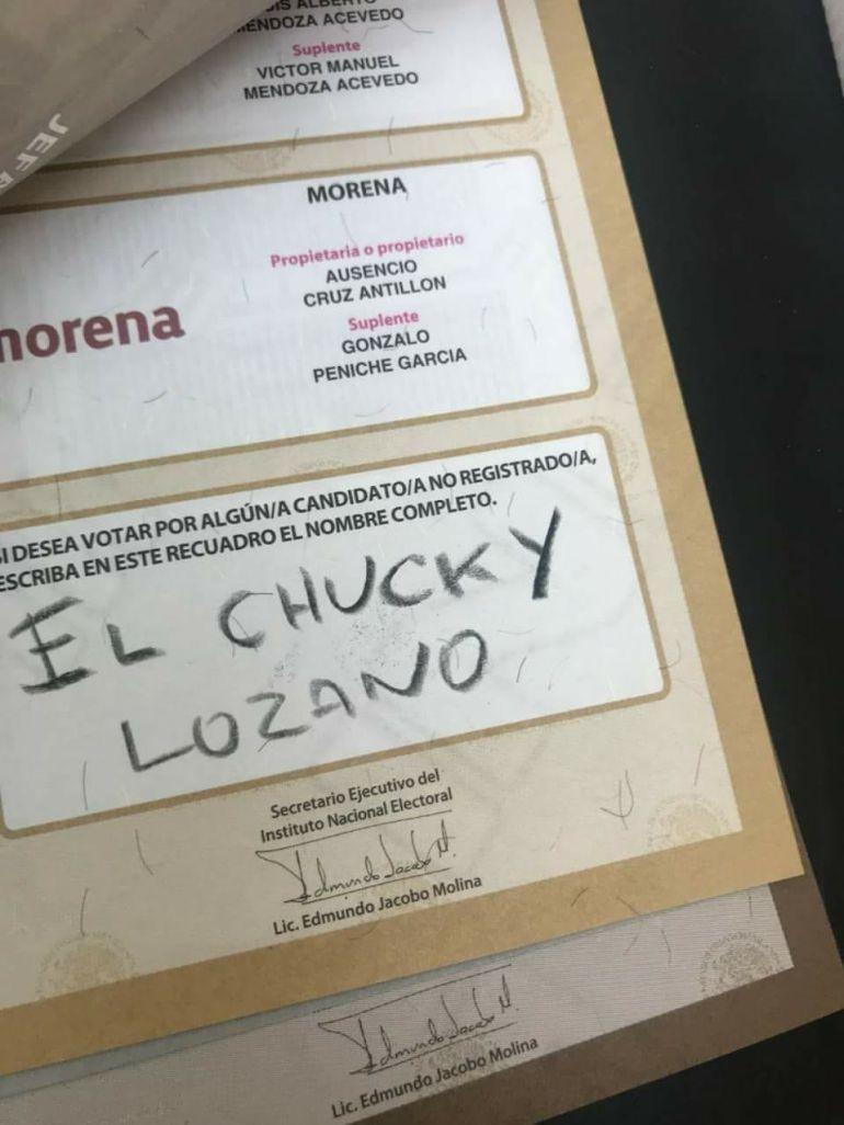 Luis Miguel aparece en elecciones 2018: Luis Miguel , 'Chucky Lozano' y Zague aparecen en las boletas electorales