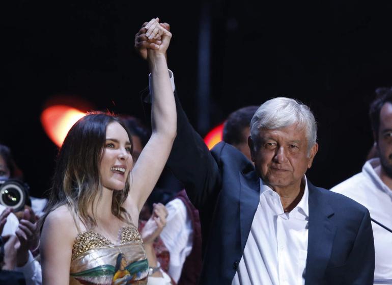 AMLO 2018 festeja con famosos: ¿Qué famosos celebraron el triunfo de Andrés Manuel López Obrador?