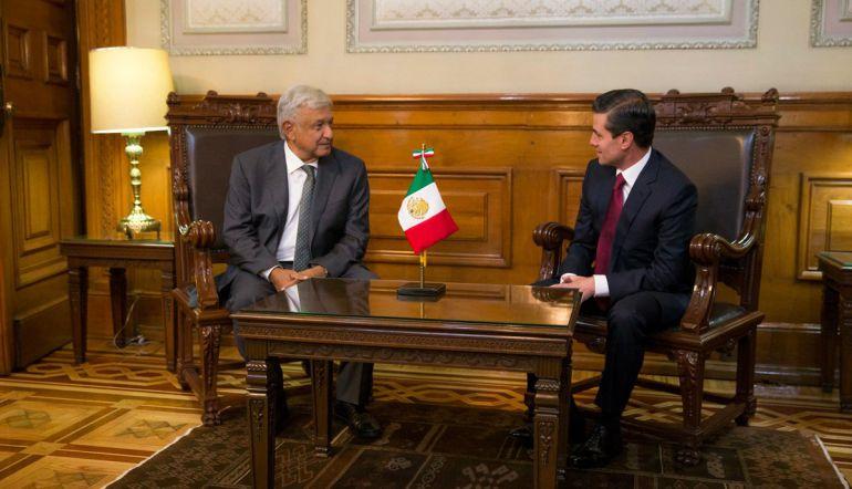 AMLO y EPN se reúnen en Palacio Nacional: AMLO y EPN trabajarán juntos durante transición de gobierno